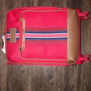 Tommy Hilfiger carry-on luggage.